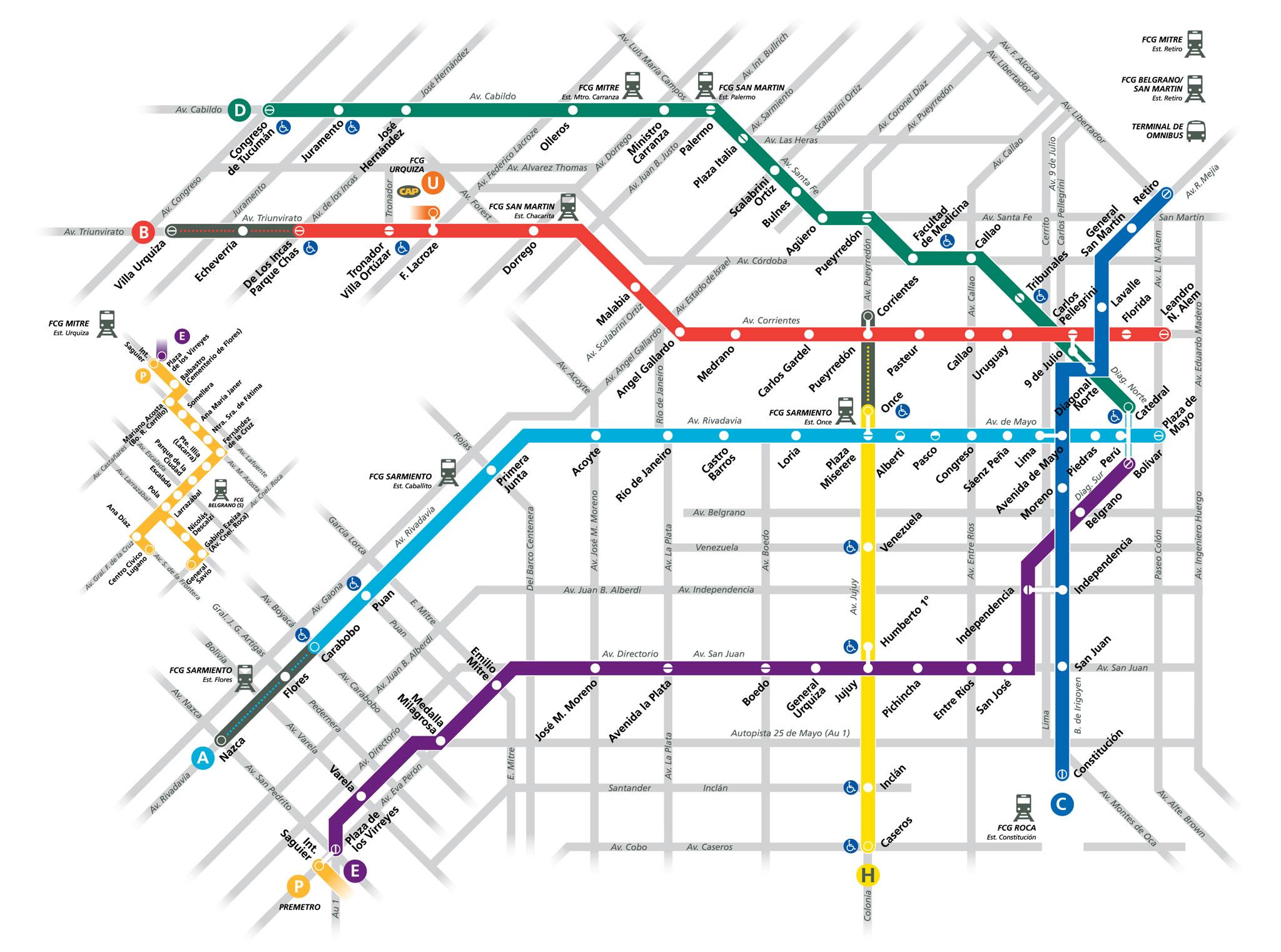 Mapa Subtes De Buenos Aires